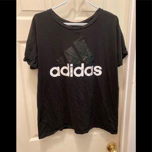 Adidas ladies XL oversized black tee shirt